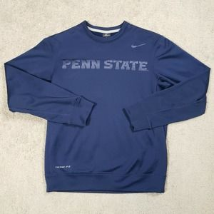 Mens Nike Penn State Therma Spell Out Sweatshirt